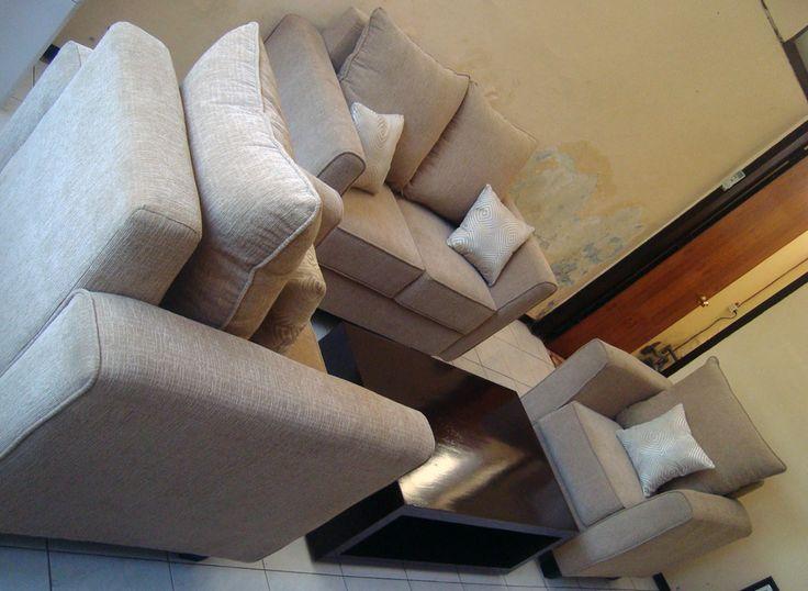 set sofa sugar brown