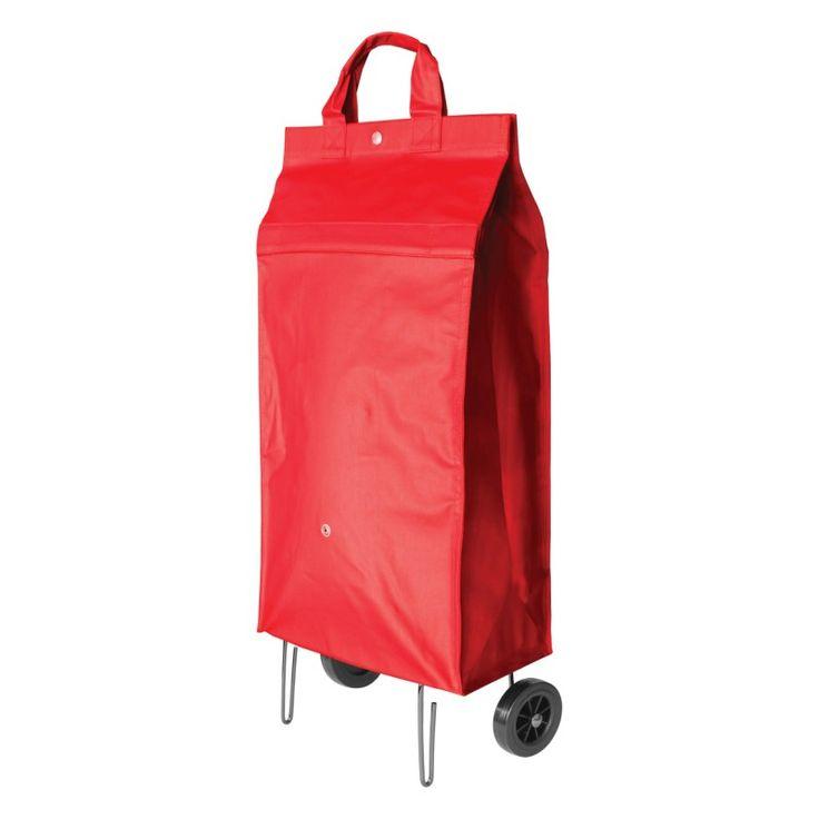 Idéal quand on ne veut pas s'encombrer en allant faire les courses, cette pochette munie d'une poignée se déplie en un geste en un sac à roulettes intégrées de 32 L. Spectaculaire !