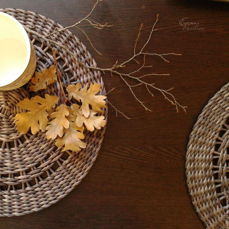 Купить Подставки сервировочные плетеные 'Вечерние' (3 шт.) - подставки плетеные, сервировочные