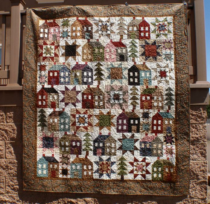 MISS ROSIE'S Come On-A My House Reproduction Floral Fabric Quilt Kit FREE SHIP #MissRosies
