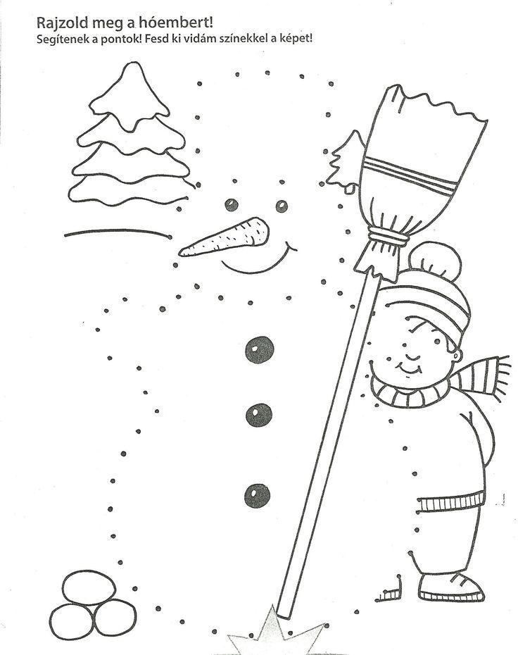 Dokresli sněhuláka