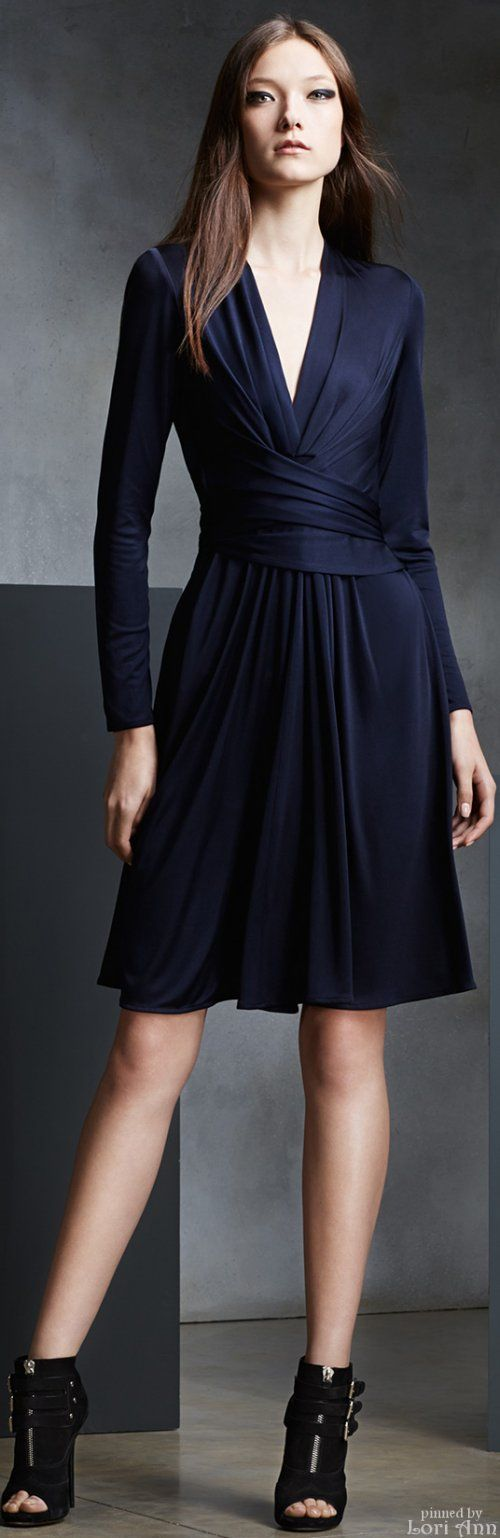Issa Pre-Fall 2015, a sophisticated take on the wrap dress.