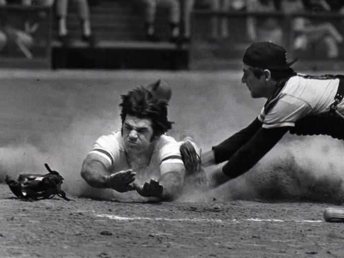 Pete Rose doing what Pete Rose did.  His numbers speak for themselves.  Lose your pride and let him in, MLB.