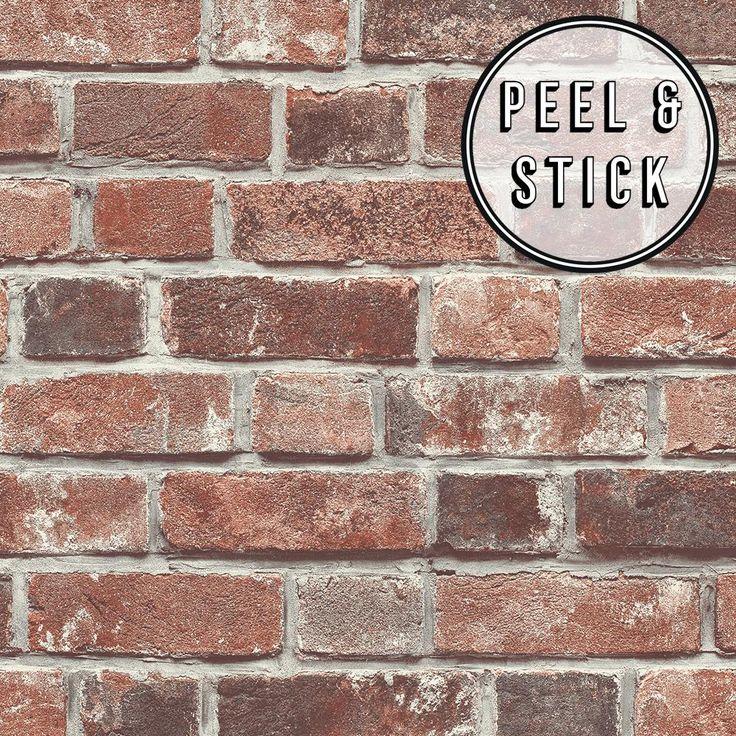Self Adhesive Wallpaper Brick Wallpaper Peel And Stick Etsy In 2021 Brick Wallpaper Peel And Stick Red Brick Wallpaper Faux Brick Walls