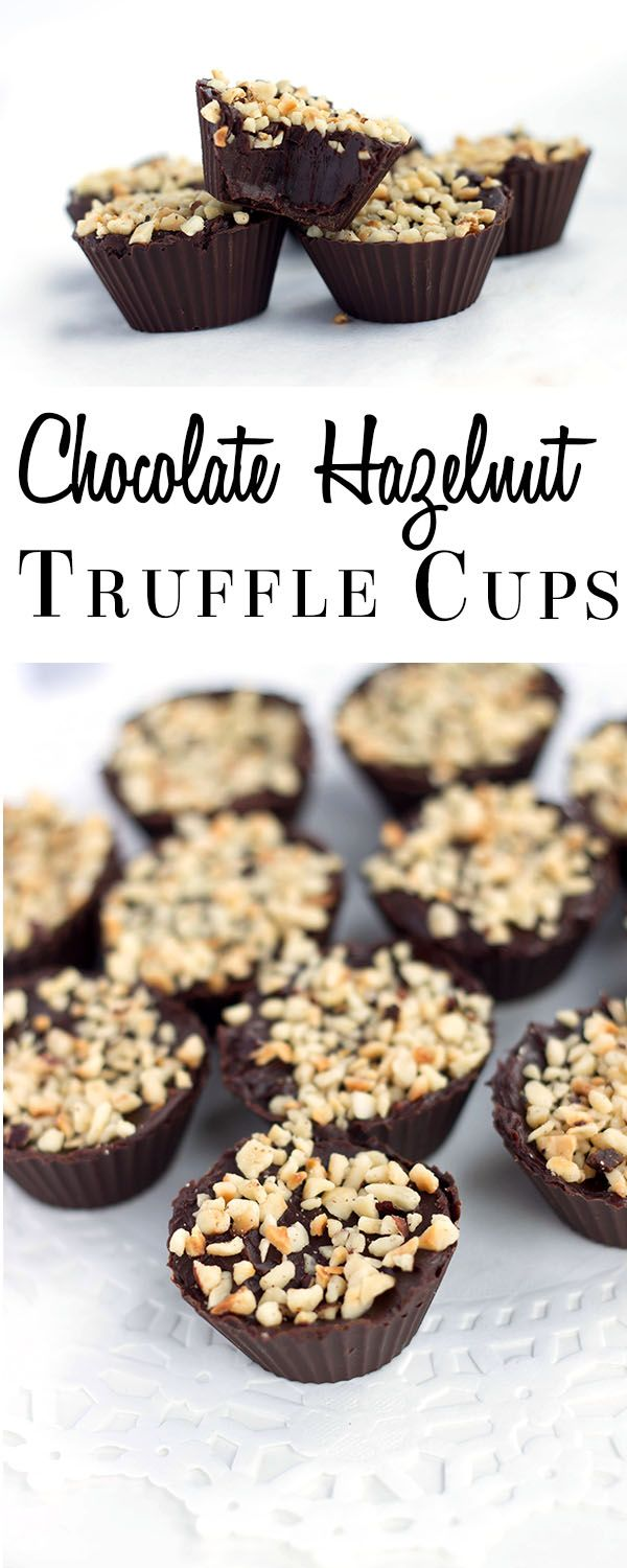 Chocolate Hazelnut Truffle Cups - Erren's Kitchen - This easy to make recipe will impress anyone you make them for - just watch them disappear off the plate!