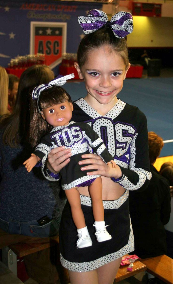 Custom cheer uniforms for American Girl Doll
