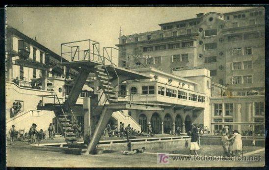 TARJETA POSTAL DE LA CORUÑA, LA SOLANA. PISCINA Y HOTEL FINISTERRE - Foto 1