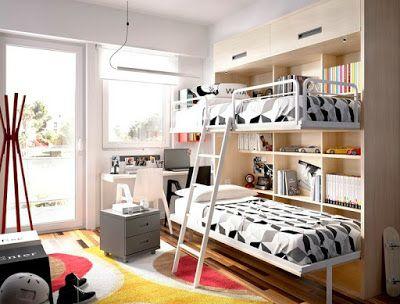 Habitaciones juveniles. ¿Literas abatibles o literas tipo tren?