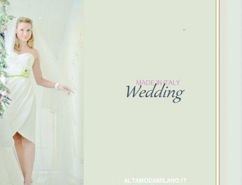 abiti sposa corti 2014 ALTAMODAMILANO.IT le nuove collezioni di vestiti sposa corti