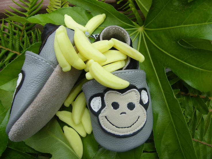 Leather softies - monkey