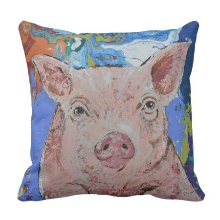 Piggy pillow #cushion #pillows #farmhousestyle #homedecor #pigs #farm #animals