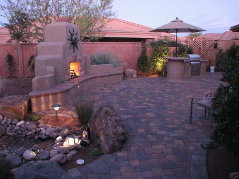 southwest landscaping ideas | Outdoor Fireplace Plans | Interior Designs Ideas