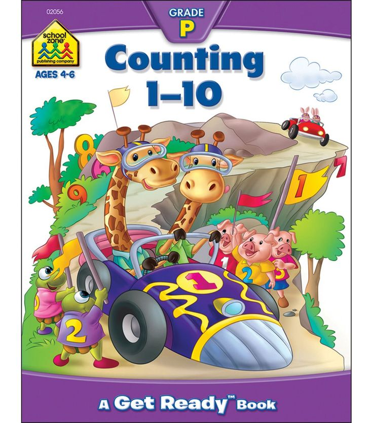School Zone Preschool Workbooks 32 Pages-Counting 1-10