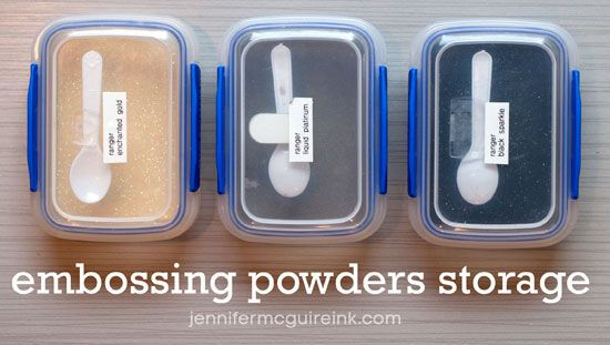 Embossing Powder Storage by Jennifer McGuire Ink