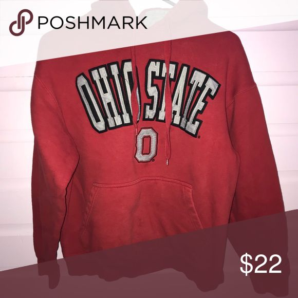 "ohio state hoodie Soft and thick. Very comfy for lounging or wear out to show support for Ohio State University!  -no trades -if you are interested in a bundle, put them together and i can send you a personal discount! -i'm negotiable on prices, but no lowballs! -items with an emoji are ""add-on items"". this means you can add them to an order for $1-$5!  -try to make all offers through offer button. Shirts Sweatshirts & Hoodies"