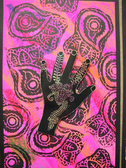 Mehndi Hands Art Lesson : Best printmaking round up images on pinterest art