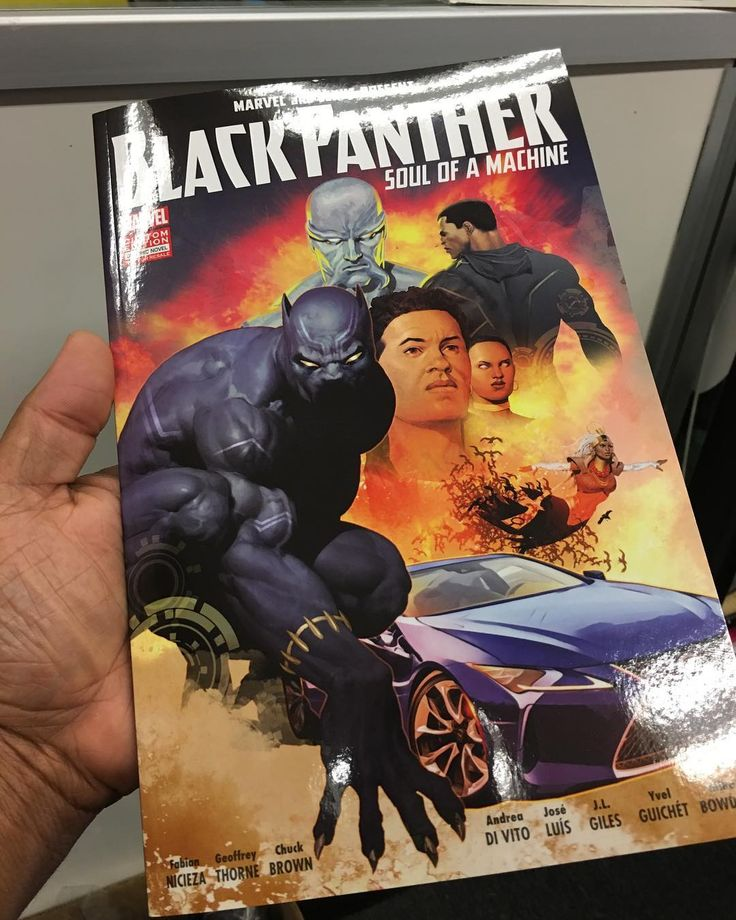 Check out this special edition all new material #BlackPanther graphic novel that my pal Shane at the Lexus dealership grabbed for me! Thanks Shane & Alexander!