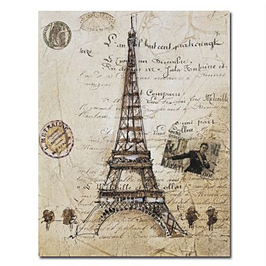 Printed+City+Paris+Eiffel+Tower+Canvas+Art+with+Stretched+Frame+–+CAD+$+44.75