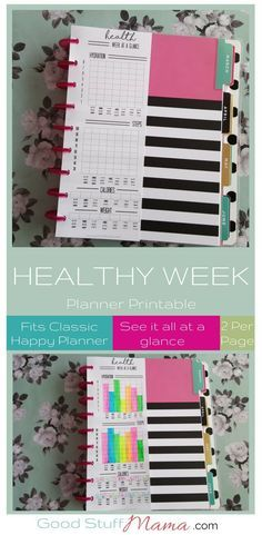 Love this free planner printable - keep track of all your health stats at a glance! #planner #health