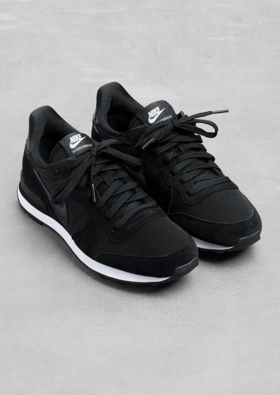 nike   'internationalist' sneakers. women's minimalist chic. fashion. style. beauty. autumn. fall. casual outfit. normcore.: