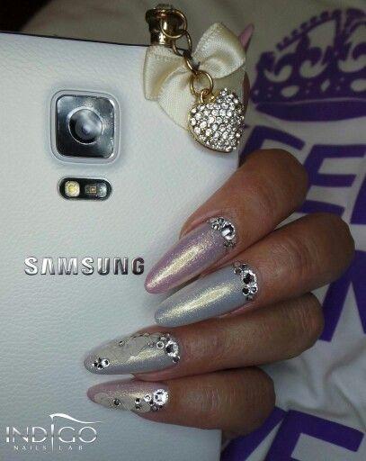 Acrylic Nails bling bling