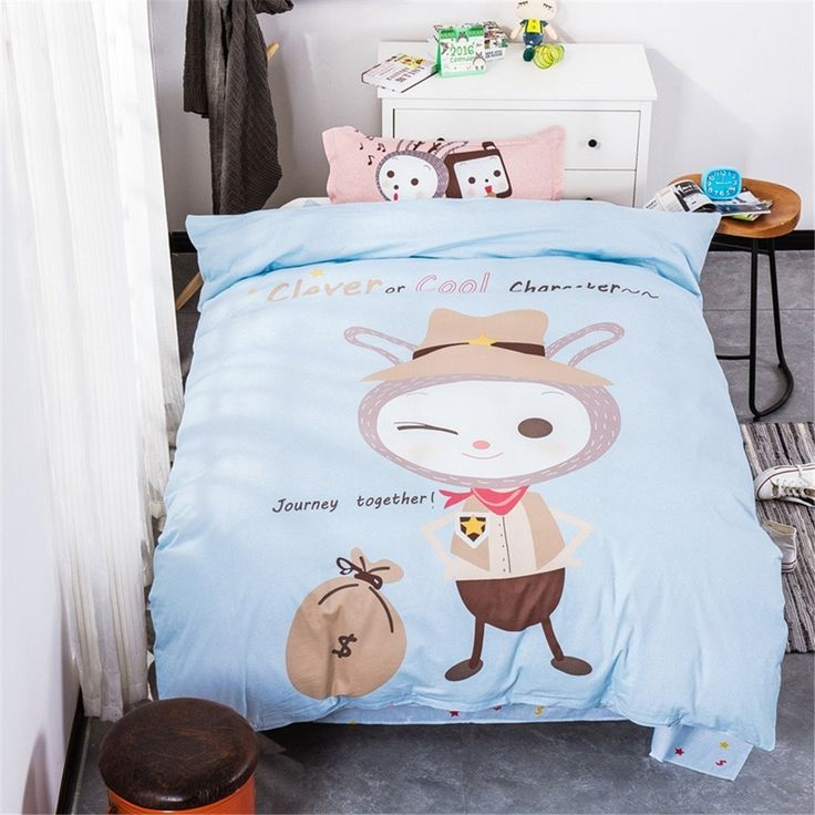 EsyDream Cartoon Kids Rubbit Bed Sheet Sets 3PC Sets,100% Cotton Rubbit Boys Duvet Cover No Comforter //Price: $41.27 & FREE Shipping //     #bedding
