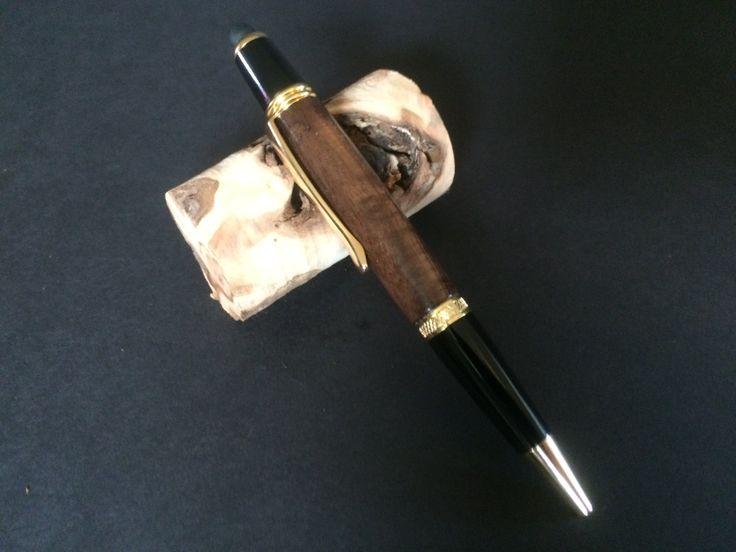 Walnut & Gold Sierra Twist Pen by JackalopeWoodworks on Etsy