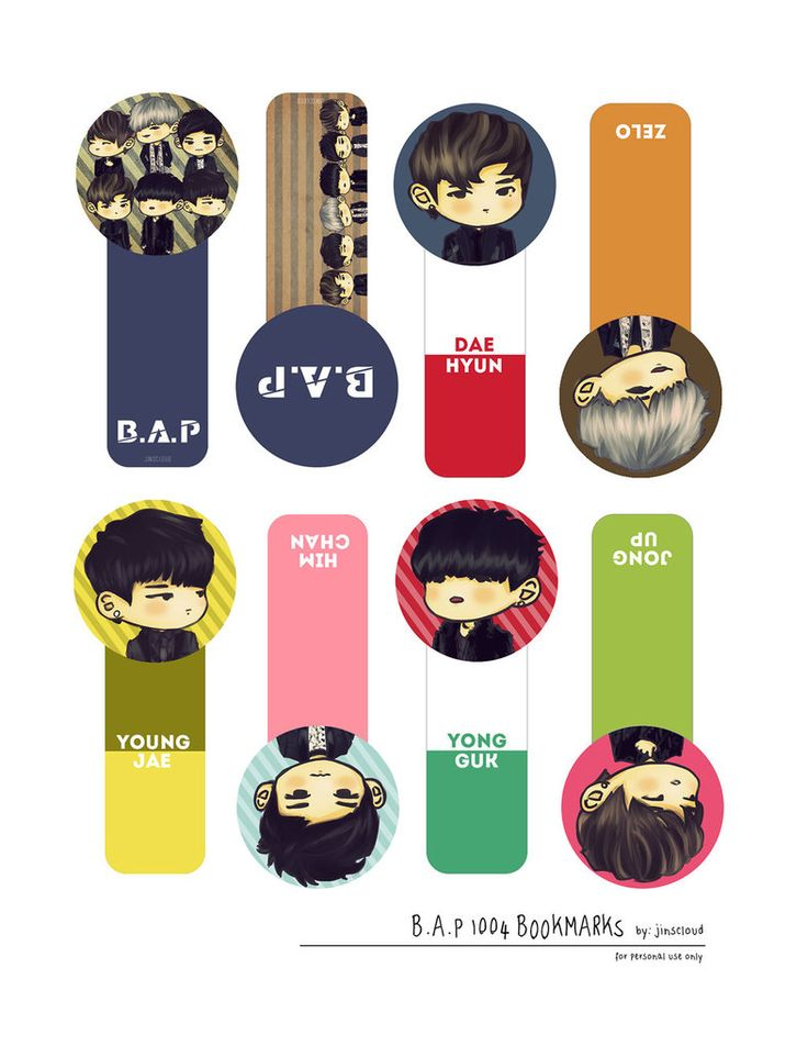 [PRINTABLE] B.A.P 1004 Bookmarks by jinscloud on deviantART