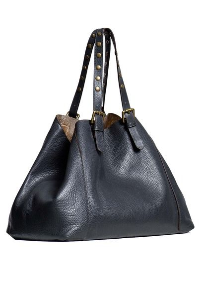 Cabas Simple bag en cuir Gris by GERARD DAREL