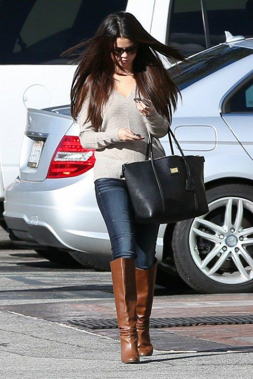 Celebrity Street Style Selena Gomez could those be #bulletblues?