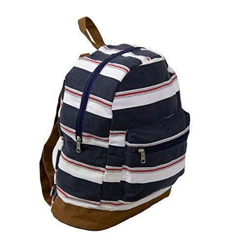 Carolina+Sweethearts+Canvas+Nautical+Backpack+Daypack+Travel+Pack+With+Zipper+Closure