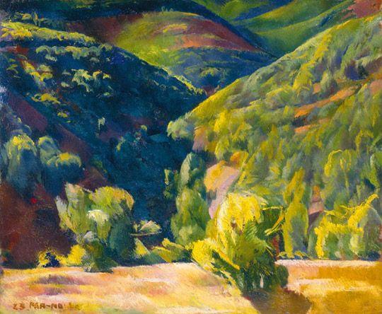Landscape of Zebegény, 1923 Aba-Novák