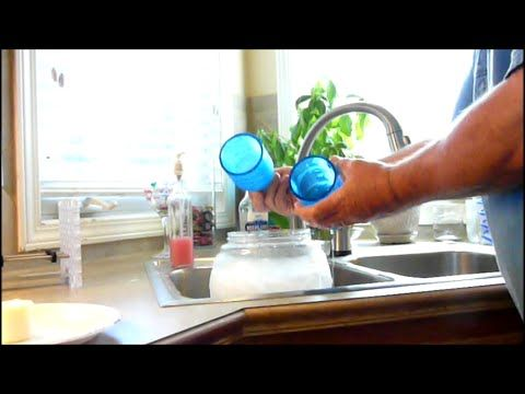 Video of making drinking glasses.