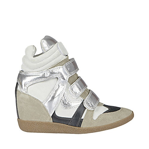 Steve Madden HILIGHT SILVER women's athletic fashion hightop. Shop @STEVE MADDEN Scarborough Town Centre. #sneaker #wedge