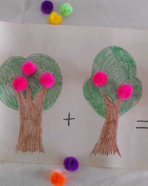 You kid can count from one to ten, no problem. She can even do it backwards. Work on her addition and subtraction skills with this fun fruit picking activity.