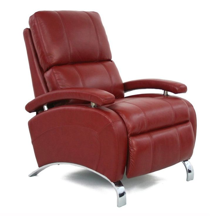 Barcalounger Oracle II Leather Push Back Recliner Stargo Red - 74160545111
