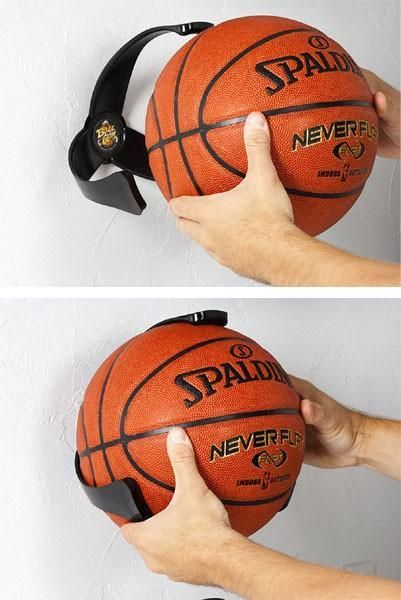 Ball Claw - A holder for your sports balls that you can attach to the walls of your garage or mud room. So they don't just go bouncing around!