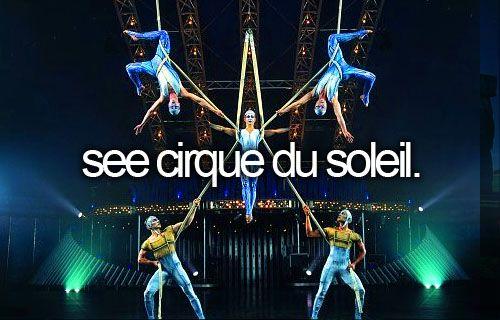 See a cirque de solei.