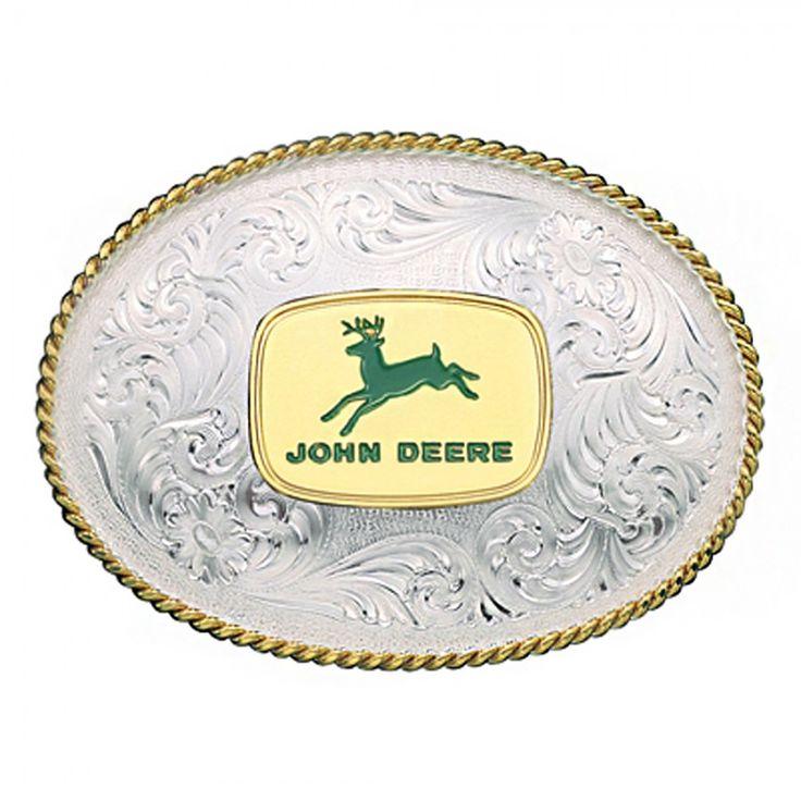 John Deere Vintage Logo Buckle | RunGreen.com