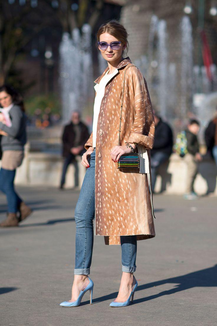 street style: Milan Fashion Week Fall 2014... this powder blue trend has me head over heels