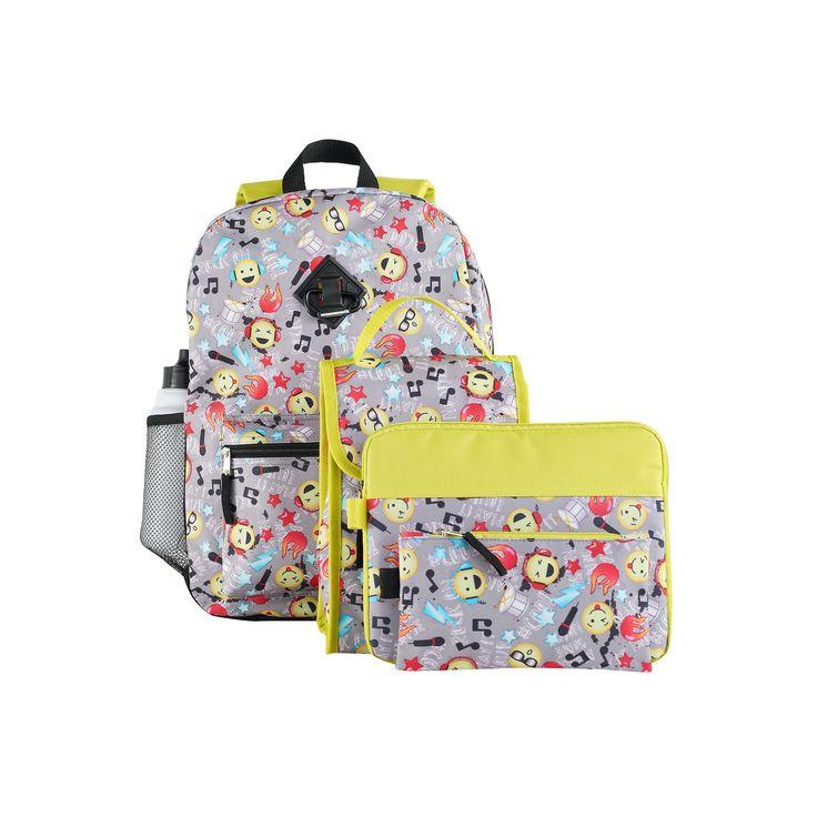 Kids 6-pc. Emoji Icon Backpack & Accessories Set, Multicolor
