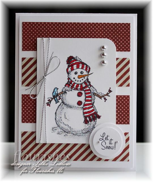 Happy weekend....today I'm showing off my favorite Flourishes snowman :) for the C4C Challenge...check it out!