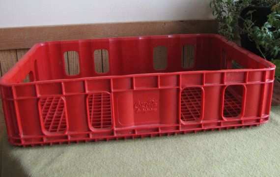 Coca Cola Red Plastic Crate 1970s Coca Cola by LazyYVintage