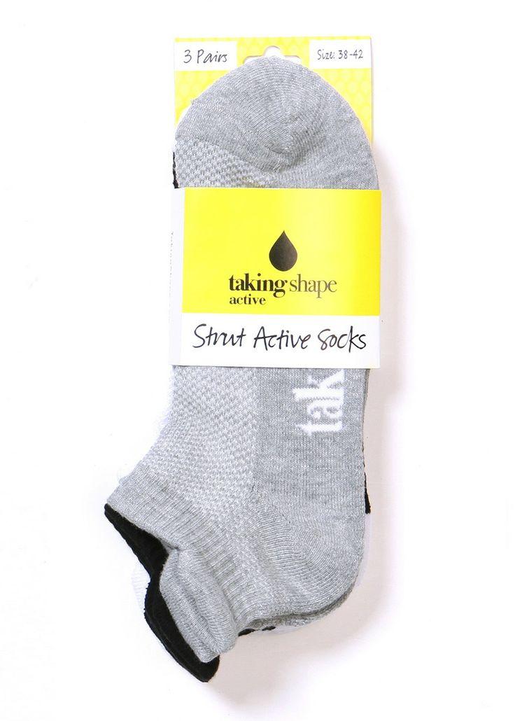 Strut Active Socks-3 Pack-WHITE/ORANGE/SPOT-ALL £8