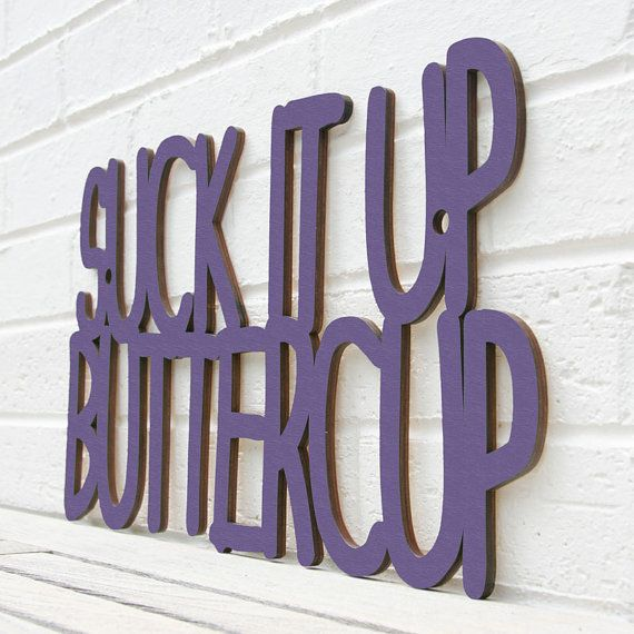Haha I love this. Going to get cheap wood letters and spray paint them! ~workout room
