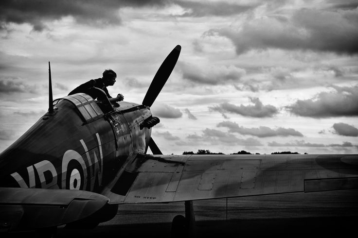Parked Hawker Hurricane at Biggin Hill Airport