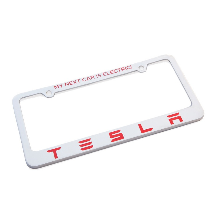 shop tesla gear tesla license plate frame my next car is electric comus motion sensors pinterest shops cars and license plates