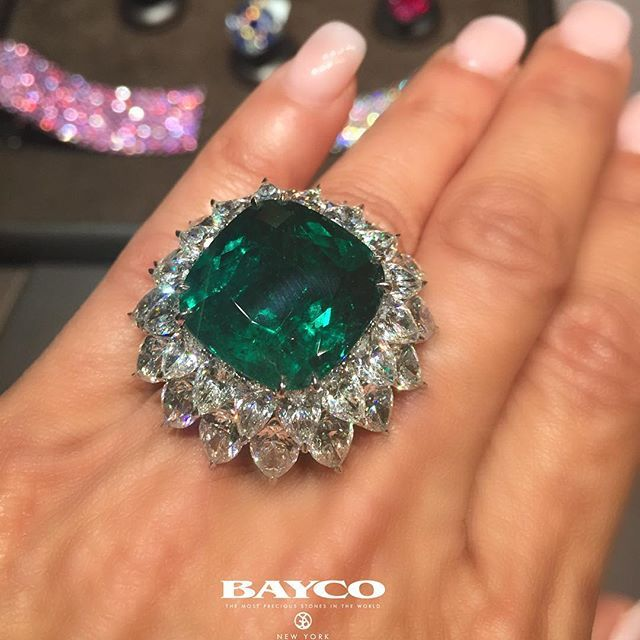 The Pristine Emerald Ring!! One of the worlds remarkable emeralds. A rare 22…
