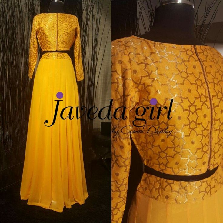 Long maxi style high waist skirt with a cropped jacket style top. #Javedagirl #readytowear