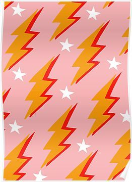 'lightning bolt' Poster by ChimaineMary in 2020 Photo
